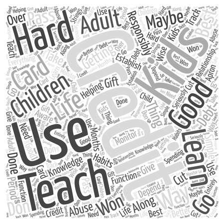 De kinderen lesgeven over Credit Word Cloud Concept Vector Illustratie