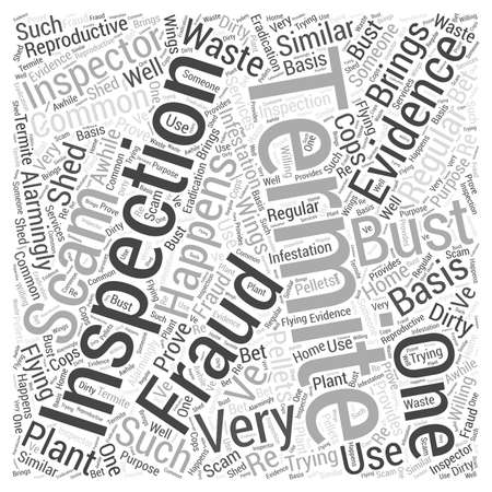 happens: Termite Inspection Fraud Word Cloud Concept