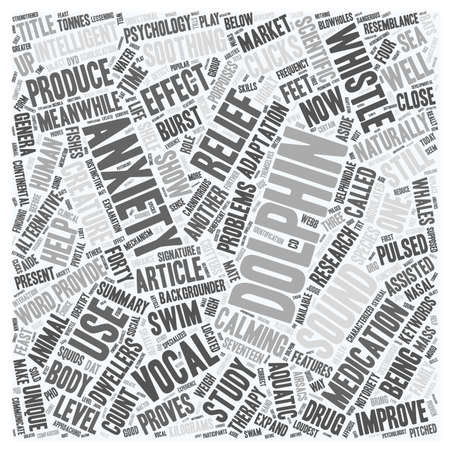 The Dolphin Drug text background wordcloud concept. Иллюстрация