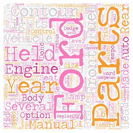The Contour Years text background wordcloud concept. Illustration