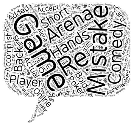 The 10 Worst Mistakes in Poker text background wordcloud concept