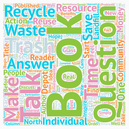 The Environmental Book on Everyone s Lips text background wordcloud concept. Illustration