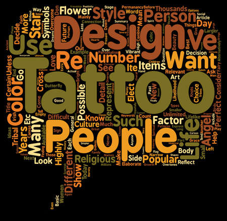 Tattoo Designs Ideas To Consider text background wordcloud concept