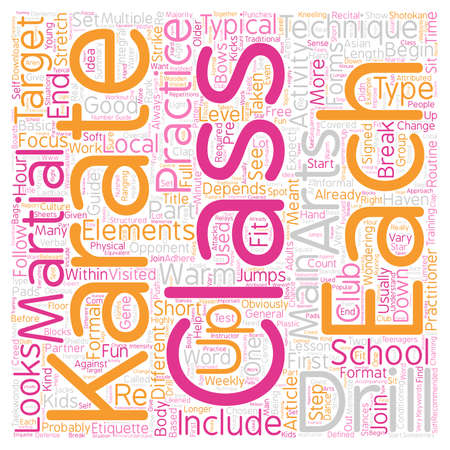 The 8 Main Elements Of A Typical Karate Class text background wordcloud concept