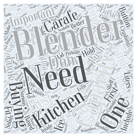 buying: The Blender Buying Guide Word Cloud Concept