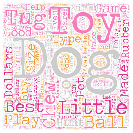 The Best Toys for Your Dogs text background wordcloud concept
