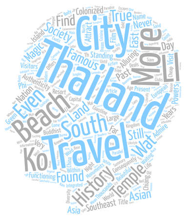 Thailand is Their Land text background wordcloud concept Illustration