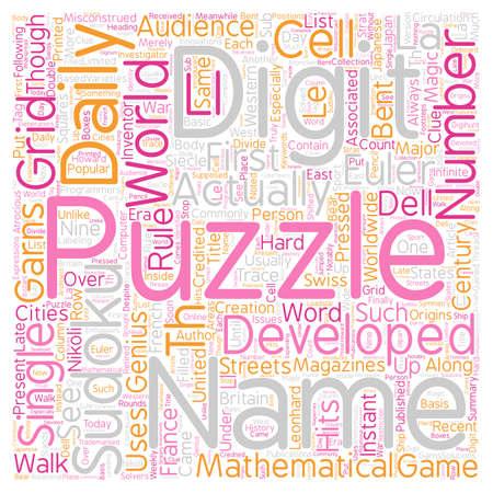 The Development Of Sudoku Puzzles text background wordcloud concept