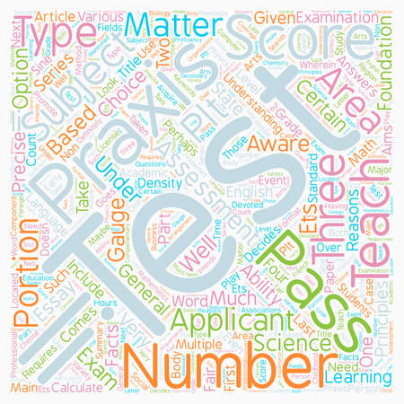 Test Component Of Praxis II text background wordcloud concept. Ilustrace