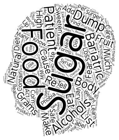 bariatric: The Fear of Sugars A Worthy Phobia text background wordcloud concept.