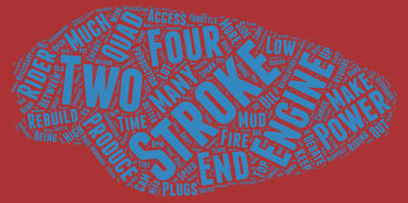the great debate two stroke versus four text background wordcloud concept