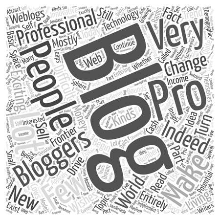 the exciting new frontier of professional blogging Word Cloud Concept