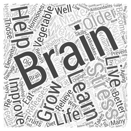 The Brain and Healthy Aging Word Cloud Concept