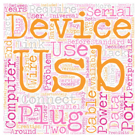 The Facts Of USB And USB Cables text background wordcloud concept