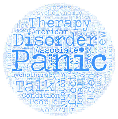 Talk Therapy Effective Treatment for Panic Disorder text background wordcloud concept