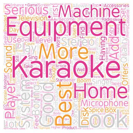 The Best Karaoke Equipment To Enhance Your Karaoke Experience text background wordcloud concept Ilustração