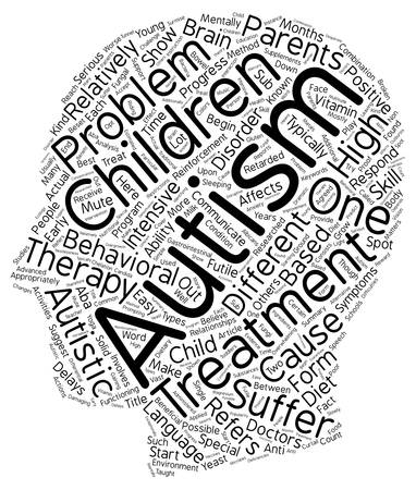 appropriately: The Different Types Of Autism Treatment text background wordcloud concept