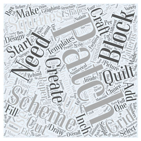 patching: The Crafts in Patching your Quilt Word Cloud Concept Illustration