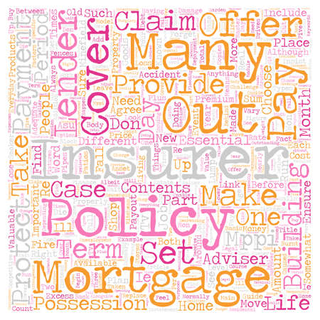 The Essential Guide To Insurance text background wordcloud concept Illustration