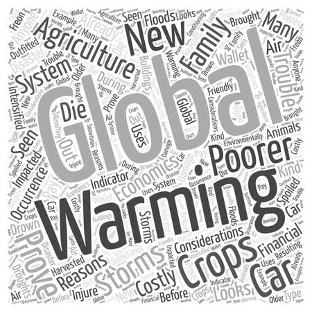impacted: The Economics of Global Warming Word Cloud Concept