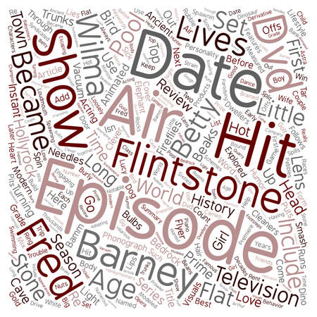 bedrock: The Flintstones DVD Review text background wordcloud concept Illustration