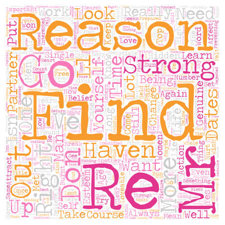 The 8 Reasons Why You Haven t Found Your Mr Right text background wordcloud concept