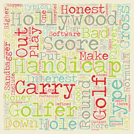 The 3 Types of Handicaps text background wordcloud concept Illustration
