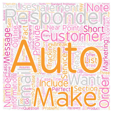 The Autoresponder Outline text background wordcloud concept