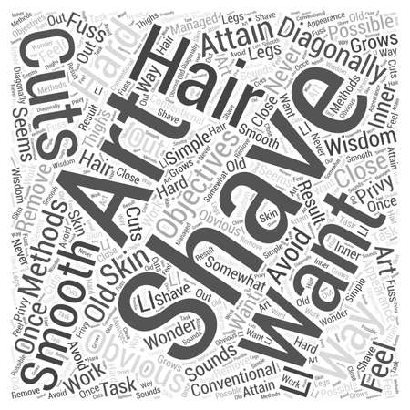the art of shaving Word Cloud Concept