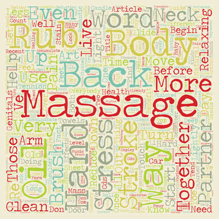 The Art Of Massage Guide text background wordcloud concept
