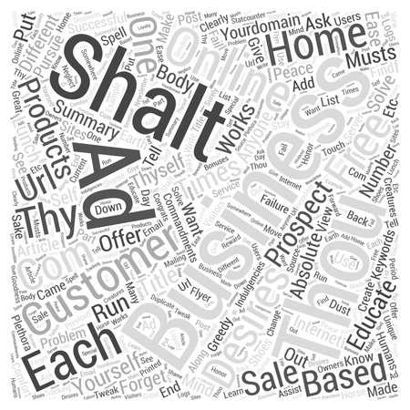 commandments: The  Commandments of Online Business Word Cloud Concept