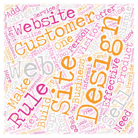 The 8 Must Do rules for effective website design text background wordcloud concept Ilustrace