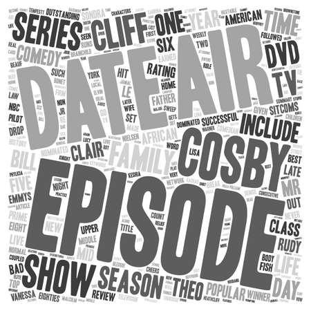 nominated: The Cosby Show DVD Review text background wordcloud concept