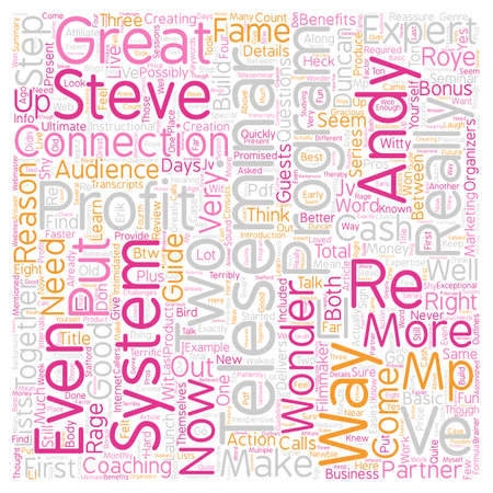 Teleseminar How to Guide The T Profit System A Review text background wordcloud concept