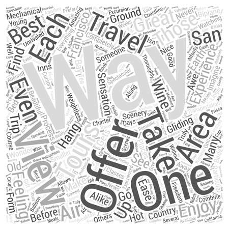 The Best Way to See San Francisco is from the Air Word Cloud Concept. Illustration