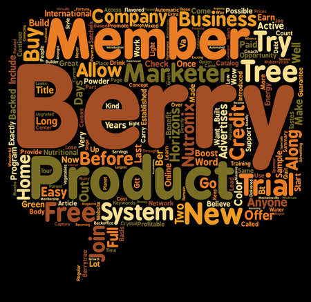 anyone: The Berry Tree Now Has A Try It Before You Buy It System text background wordcloud concept