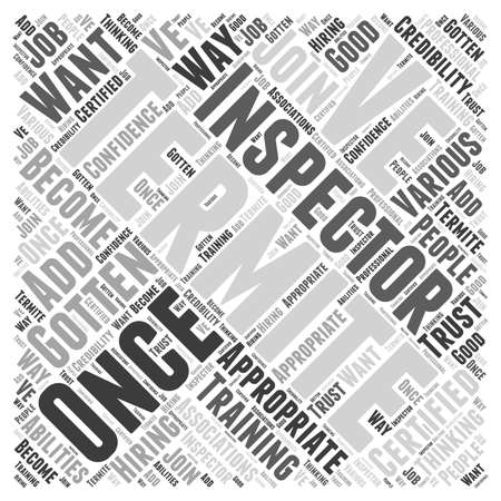inspector: Termite Inspector Word Cloud Concept Illustration