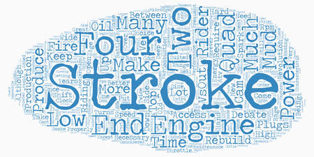 the great debate two stroke versus four 1 text background wordcloud concept