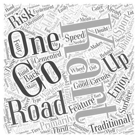 The Fun of Off Road Karting Word Cloud Concept.