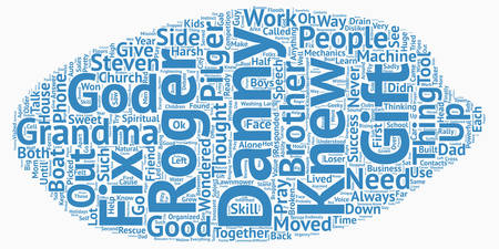 knew: The Good Talker text background wordcloud concept.