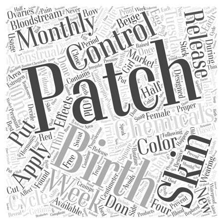 The Birth Control Patch Word Cloud Concept Stock Illustratie