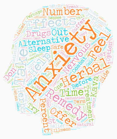 The Alternative Way To Combat Your Anxiety text background wordcloud concept