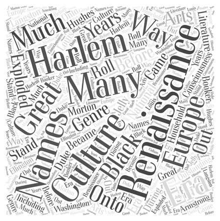 The Harlem Renaissance Word Cloud Concept