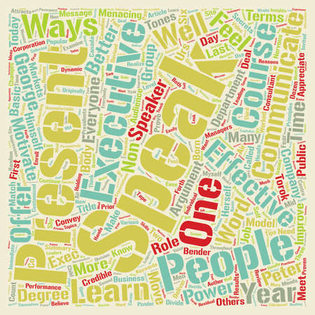 The Effective Executive text background wordcloud concept.