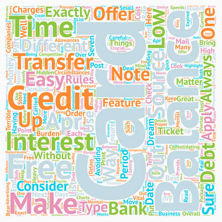 The 7 Rules of Credit Card Balance Transfer text background wordcloud concept