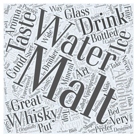 dram: The Art Of Drinking Whisky Word Cloud Concept Illustration