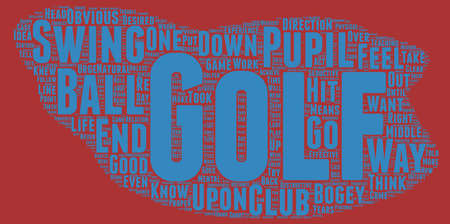 formulate: The Golf Bogey Number One text background wordcloud concept Illustration