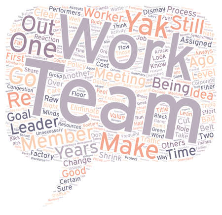 Team Work No Thanks text background wordcloud concept