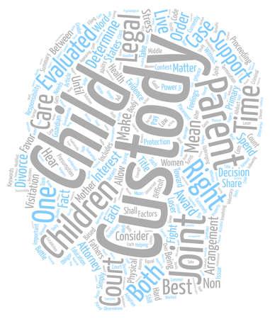 determines: The Court Determines Child Custody text background wordcloud concept