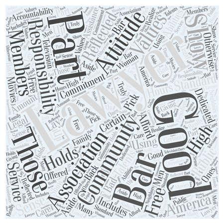 良い弁護士単語クラウドのコンセプト  イラスト・ベクター素材